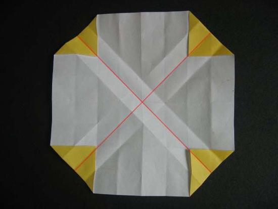 怎么用正方形简单折玫瑰花图解