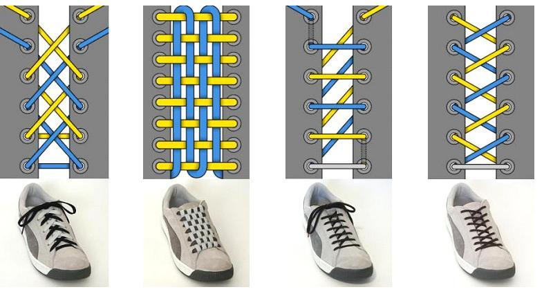 系法图解 一根鞋带的花样系法 鞋带的花样系法exo